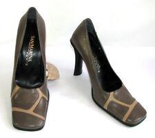 SAN MARINA Escarpins talons 10.5 cm cuir gris et beige 38 NEUF