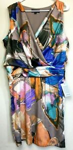 NWT Julie Dillon New York Size 14 Multi-Colored Polyester Dress