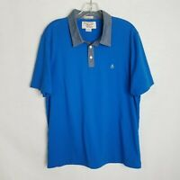 Penguin Mens Blue Heritage Slim Fit Short Sleeve Polo Shirt Size XL K317