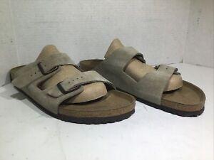 Birkenstock Mens Size 17 EU 50 Narrow Arizona Taupe Suede Casual Sandals ZE-989