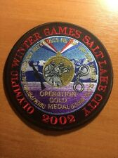 PATCH POLICE OLYMPIC WINTER GAMES SAKE LAKE SWAT  - UTAH state