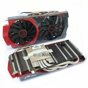 For MSI heat pipe 58mm cooling fan For Red Dragon GTX960 graphics card fan 4-pin