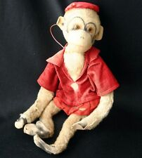 Vintage Swivel Head Plush Money in Red Coat and Hat