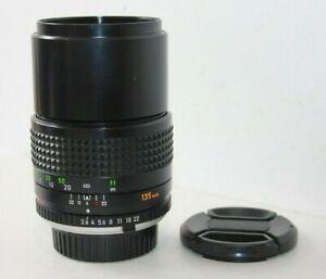 Minolta MC Tele Rokkor-PF 135mm f2.8 Telephoto Prime Lens MD Mount.