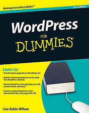 Sabin–Wilson, Lisa, WordPress For Dummies, Very Good Book