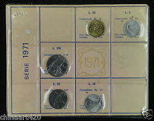 Italy coins set of 5 pieces 1971 Uncirculated