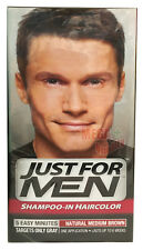 Just for Men Shampoo-In Hair Colour Color Mens Dye # Natural Medium Brown