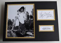 Sophia Loren SIGNED autograph 16x12 photo display Hollywood Film AFTAL & COA