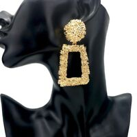 HOT Celeb Statement GOLD SILVER OR BLACK Geometric Earrings By Rocks Boutique