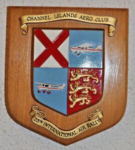 Channel Islands Aero Club 25th International Air Rally wall plaque shield Jersey