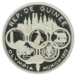 Guinea - Silver 500 Francs - 'Summer Olympics' - 1970 - Proof