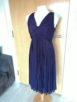 Ladies Dress Size 10 PHASE EIGHT Purple Ruched Party Evening Wedding Races