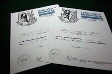 German Jump School (Fallschirmspringer) Replacement Certificate