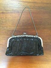 Franchi BLACK MESH Evening Purse Handbag