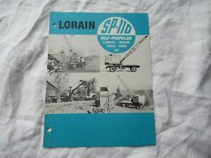 Lorain SP-110 clamshell dragline shovel crane hoe  brochure