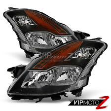 For 2008-2009 Altima Coupe S SE 2D Black Headlights Left Right Driver Passenger