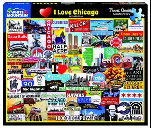 I Love Chicago 1000 Piece Jigsaw Puzzle 760mm x 610mm   (wmp)