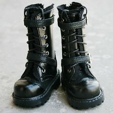 [wamami] 18# Black 1/4 MSD DOD BJD Dollfie Leather Boots/Shoes