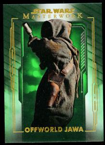 Offworld Jawa #19 Topps 2020 Star Wars Masterwork Green Parallel Card 48/99