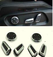 Chrome Seat Adjust Switch Button Knob Decor Cover For Audi Q5 A4 A7 CC Tiguan
