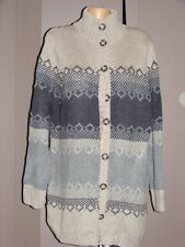 Rockmans GREY TAUPE SKI Cardigan Size XL-18 NEW RRP$69.99 Jacquard Design