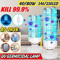 40/80W UVC Germicidal Lamp E27 LED Bulb Home Ozone Sterilizer Disinfection Light