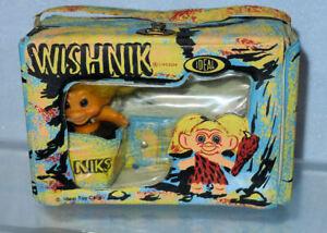 Vintage 1960's  ®Uneeda IDEAL - WISHNIK TROLL in Case, Old Doll Figure