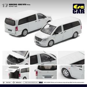 2016 Mercedes-Benz Vito Mini Bus Van W447 V White Era Car 17 1:64 Scale Model