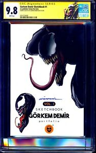 Gorkem Demir Sketchbook Volume #1 CGC SS 9.8 signed VENOM SKETCH Gorkem Demir