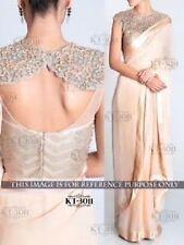 Bollywood Designer Party Wear Cream color  Saree
