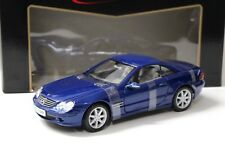 1:18 Maisto Mercedes SL-Class Hard Top 2001 Blue New chez Premium-modelcars