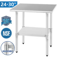 """24"""" x 30"""" Commercial Prep Work Table Home Kitchen Restaurant Stainless Steel NSF"""