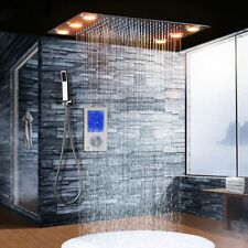 Luxury LED Intelligent Digital Display Shower Set w/Thermostat Touch Panel Mixer