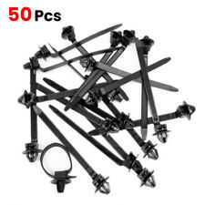 50pcs Nylon Cable Tie Fastener Clips Car Loom Hose Clamp Fastening Zip Strap NEW