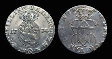 Norvège Christian VII (1766-1808) 24 Skilling 1774 - Argent 8.09 gr