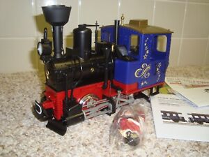 LGB Blue Stainz Christmas Santa Train G scale 72305 unused new no box with smoke