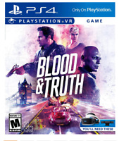 🔥Brand New Blood and Truth VR video game Disc PS4 PlayStation 4 PSVR Fast Ship