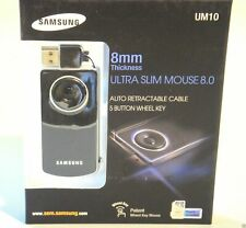 Samsung Ultra Slim Mouse UM10 Wired Optical, 8mm Tick, 5 Button Wheel Key Black