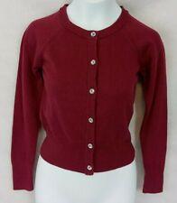 Girls Cardigan Sweater Cat & Jack Burgundy XL 14/16