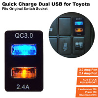 Quickcharge USB Charger for Toyota Prado 150,LC200, 2016 Hilux, Fortuner