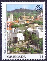 Grenada 1997 MNH, UNESCO, City Vilnius baroque Architecture - Lithuania