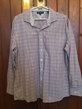 LONG SLEEVE SHIRT BY TOMMY HILFIGER RED & BLUE CHECK SIZE 34-35