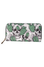 Banned Evil Thrill Tropical Cactus Skull Purse Vegan Faux Leather