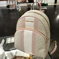 Michael Kors Women Medium Vanilla PVC Leather Backpack School Book Shoulder Bag