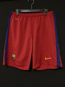 2015-16 Barcelona Home Football Shorts Soccer L *Excellent Condition* NIKE