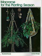 Plant Hangers, Jewelry Belt Patterns Macrame for All Seasons III Craft Book 7281