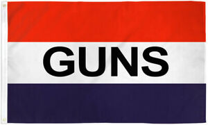 Guns Flag 3x5 Guns Banner Sign Gun Equipment Gunsmith Ammo Guns Flag