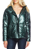 Vince Camuto Women's Metallic Hooded Puffer Jacket, Green, Size S, $179, NwT