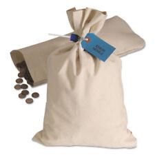 ONE (1) HEAVYWEIGHT COTTON DUCK CLOTH COIN BAG 10oz CANVAS 12x19 WHITE - NEW