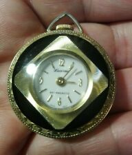 Vintage Lucerne Ladies Pendant Watch Necklace/Fob/Chain Swiss Made 37mm